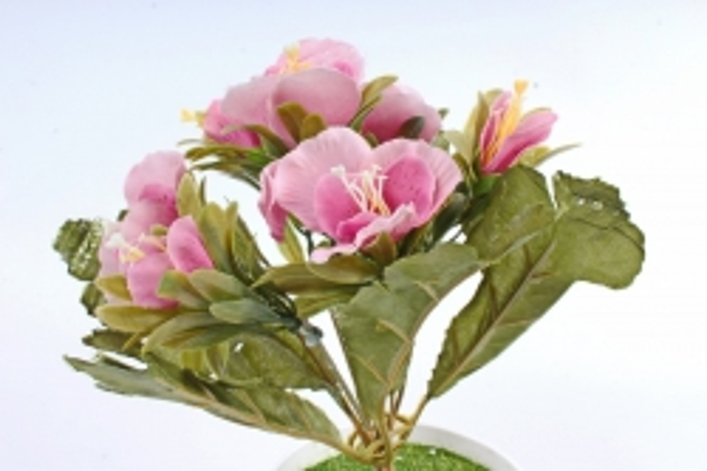 Искусственное растение -  Альстромерия пастель розовая