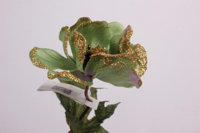 искусственное растение - анемона 33 см зеленая 71163