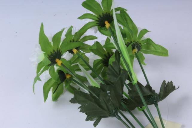 искусственное растение - анемона белая 33см