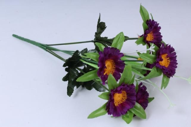 Искусственное растение - Анемона фиолетовая 33см