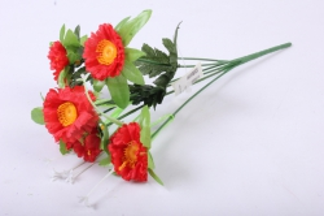 Искусственное растение - Анемона красная 33см