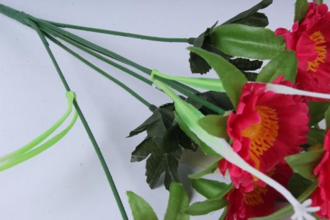 искусственное растение - анемона малиновая 33см