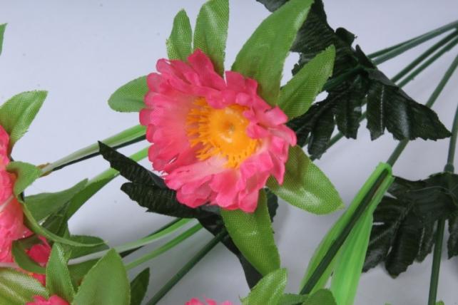 искусственное растение - анемона розовая 33см