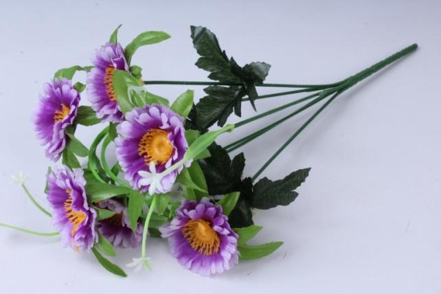Искусственное растение - Анемона сиреневая 33см