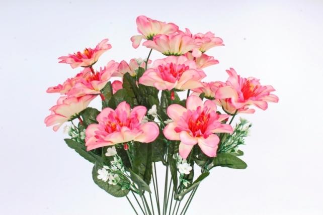 Искусственное растение -  Анемона высокая с гипсофилой   бело-розовая
