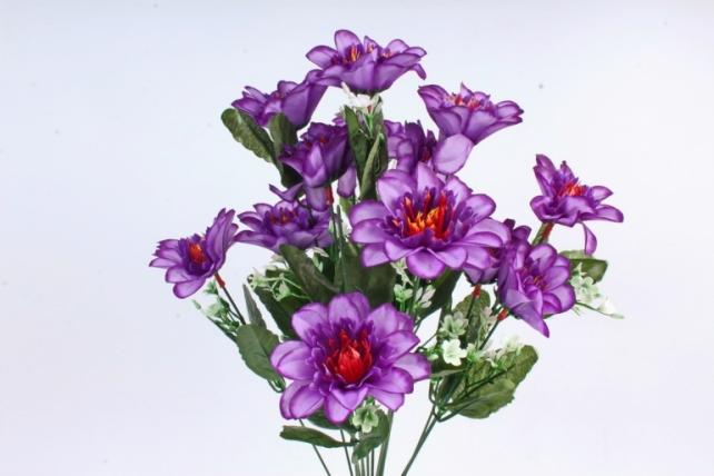 Искусственное растение -  Анемона высокая с гипсофилой  фиолетовая