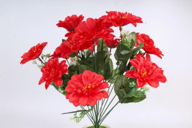 Искусственное растение -  Анемона высокая с гипсофилой   красная