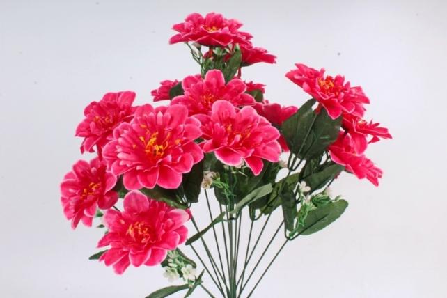 Искусственное растение -  Анемона высокая с гипсофилой  малиновая