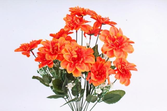 Искусственное растение -  Анемона высокая с гипсофилой   оранжевая