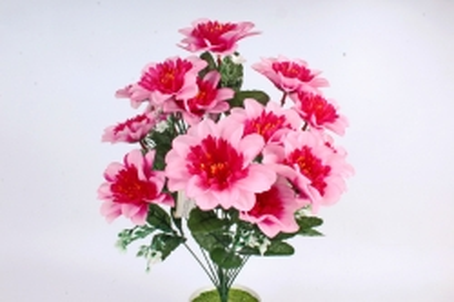 Искусственное растение -  Анемона высокая с гипсофилой  розовая