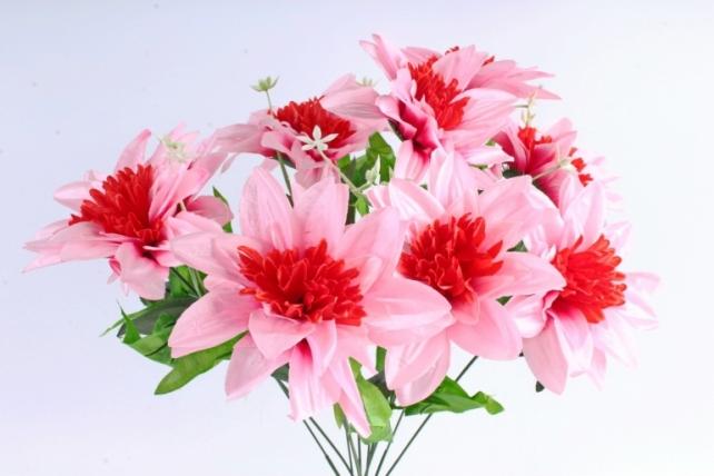Искусственное растение -  Анемоны гигант   розовые