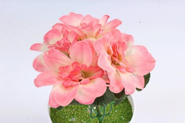 Искусственное растение -  Анемоны яркие бело-розовые