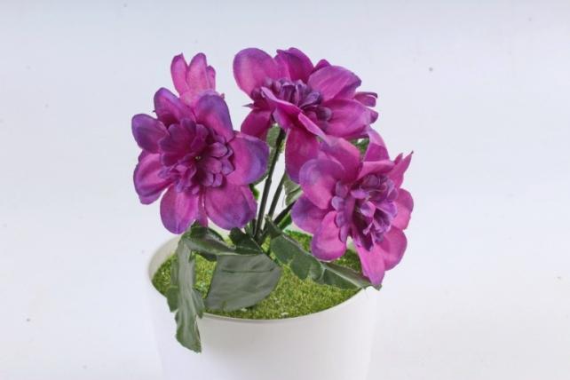 Искусственное растение -  Анемоны яркие фиолетовые