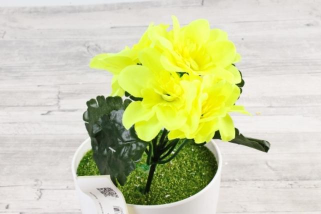 Искусственное растение -  Анемоны яркие лимонные