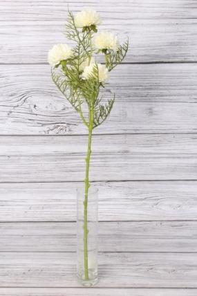 Искусственное растение -  Астра ветка 60 см белая 2052А