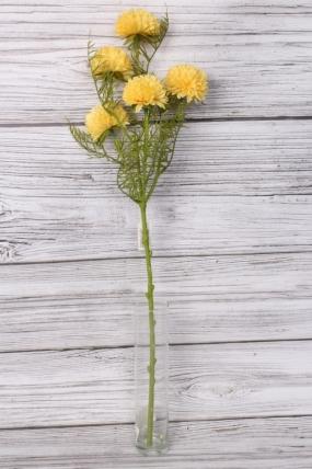 Искусственное растение -  Астра ветка 60 см жёлтая 2052А