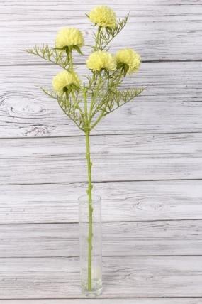 Искусственное растение -  Астра ветка 60 см лимонная 2052А