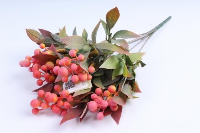 Искусственное растение -  Боярышник 5 веток брусничный Б9288