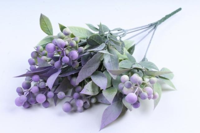 Искусственное растение -  Боярышник 5 веток сиреневый Б9288
