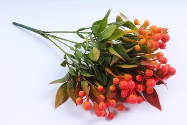 Искусственное растение -  Боярышник 5 веток терракотовый Б9288
