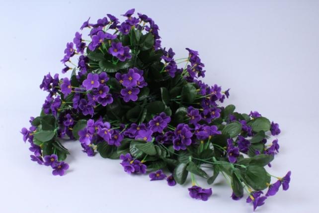 Искусственное растение - Букет фиалок ниспадающий фиолетовый h=31cm