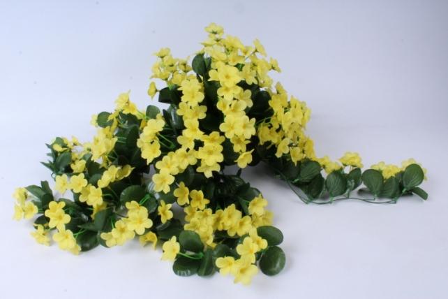 Искусственное растение - Букет фиалок ниспадающий жёлтый h=31cm