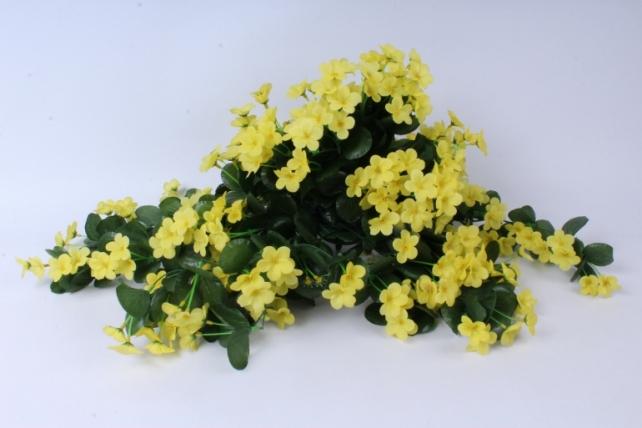 искусственное растение - букет фиалок ниспадающий жёлтый