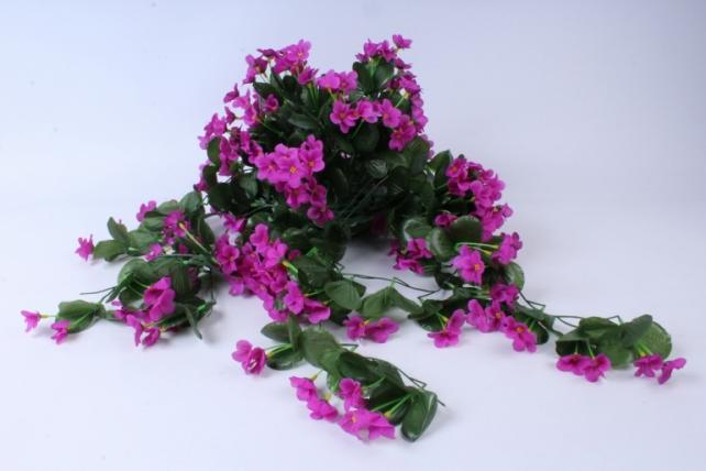 Искусственное растение - Букет фиалок ниспадающий малиновый h=31cm