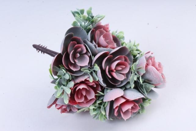 Искусственное растение -  Букет конусовидной каменной розы персиковый  Б10246