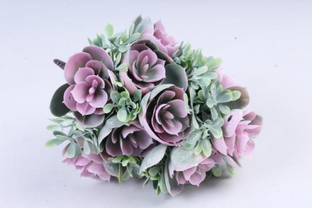 Искусственное растение -  Букет конусовидной каменной розы розовый  Б10246