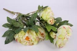 Искусственное растение - Букет Пиона 64 см бело-салатовый SUN122
