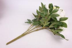 искусственное растение - букет пиона 64 см белый sun122