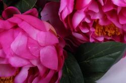 искусственное растение - букет пиона 64 см малиновый sun122