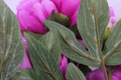 искусственное растение - букет пиона 64 см сиреневый sun122