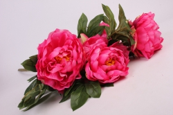 искусственное растение - букет пиона 64 см ярко-розовый sun122