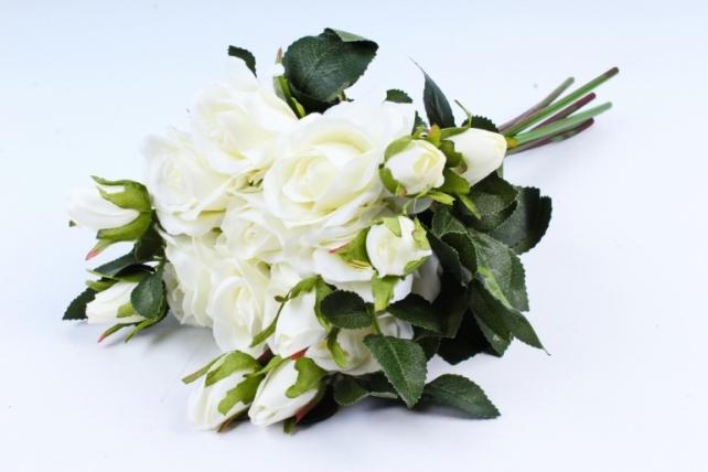 Искусственное растение- Букет роз белый (8 шт)  YH153