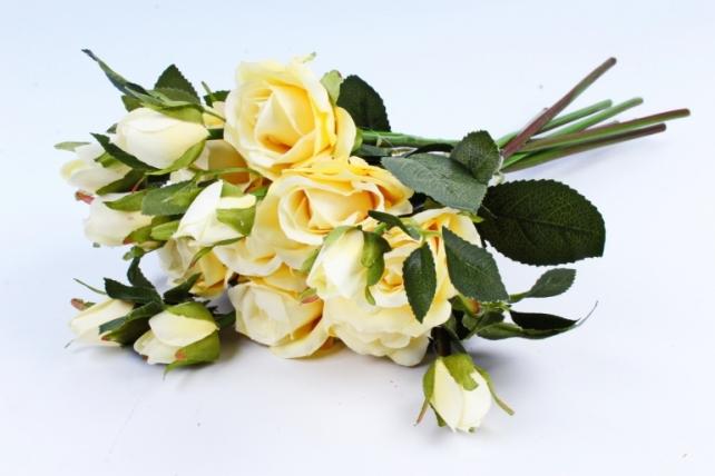 Искусственное растение- Букет роз жёлтый (8 шт)  YH153