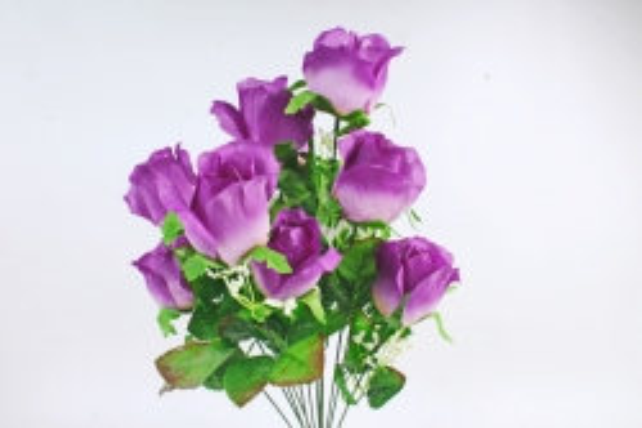 Искусственное растение -  Букет роз классический фиолетовый   Б10821