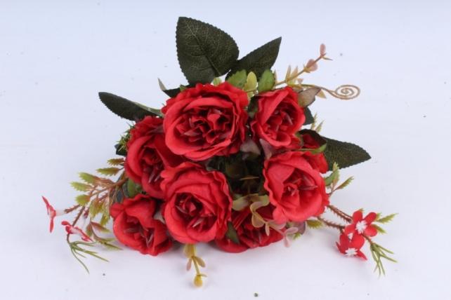 Искусственное растение -  Букет розы Асти красный