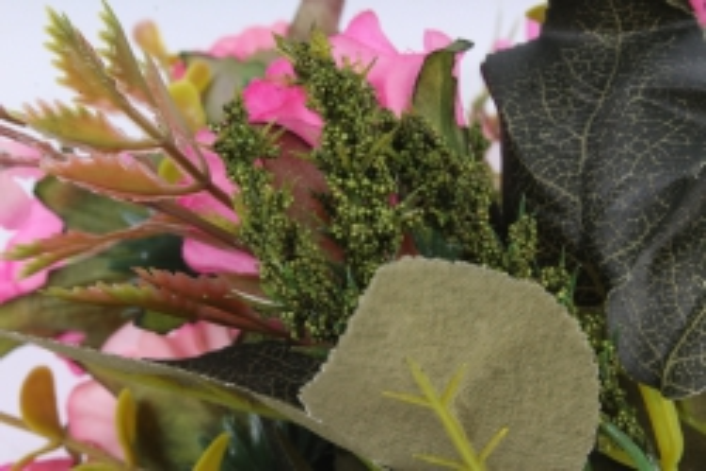 Искусственное растение -  Букет розы Асти малиновый