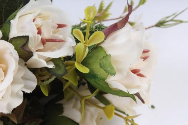 Искусственное растение -  Букет розы Асти шампань