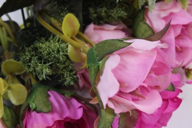 Искусственное растение -  Букет розы Асти сиреневый
