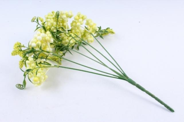 Искусственное растение -  Букет Шарики перламутровые жёлтые  Б9760