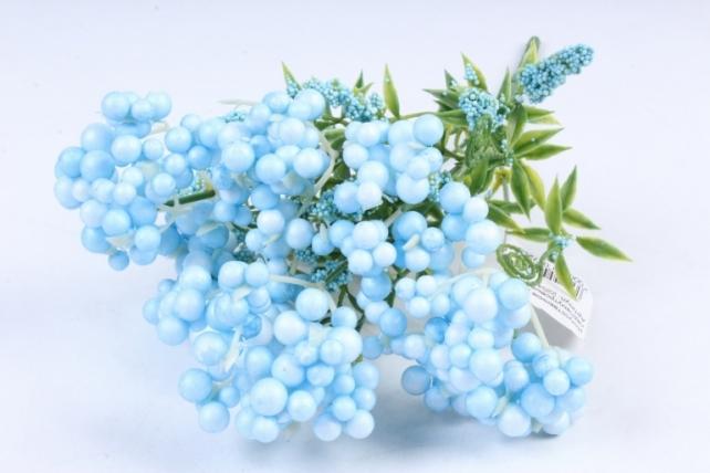Искусственное растение -  Букет Шарики перламутровые голубые  Б9760