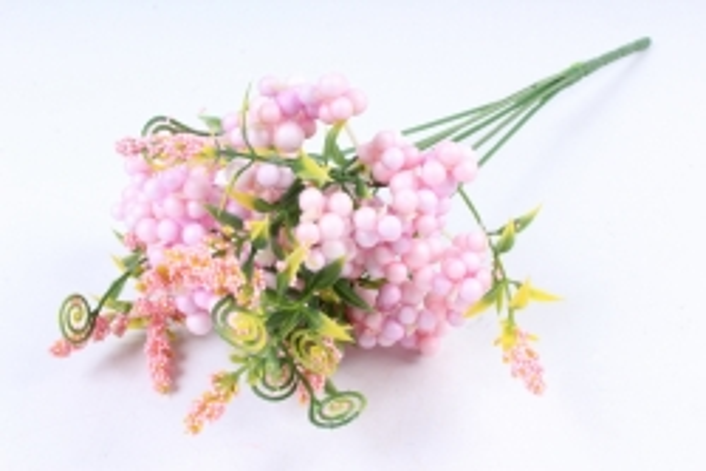 Искусственное растение -  Букет Шарики перламутровые розовые  Б9760