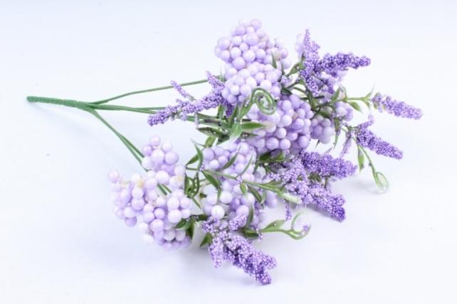 Искусственное растение -  Букет Шарики перламутровые сиреневые Б9760