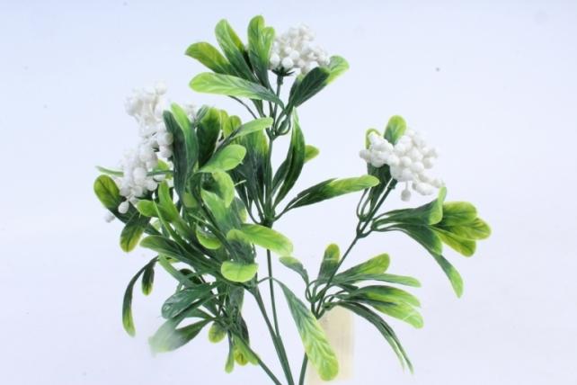 Искусственное растение -  Букет ягодника белый Б10284