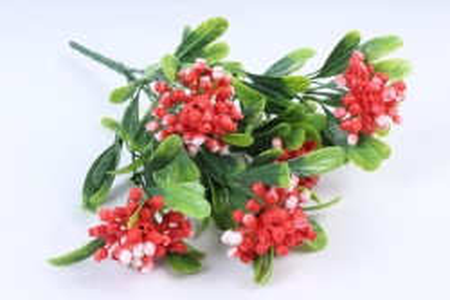 Искусственное растение -  Букет ягодника красный Б10284