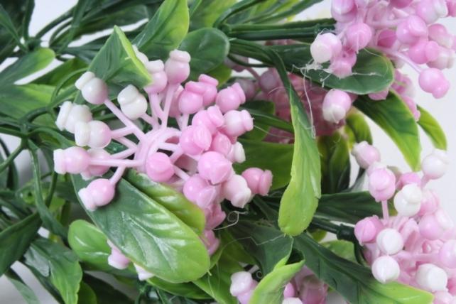 Искусственное растение -  Букет ягодника розовый Б10284
