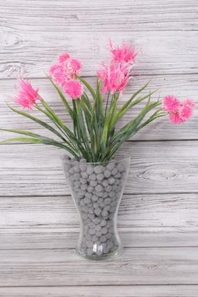 Искусственное растение -  Чертополох в осоке 40 см ярко-розовый